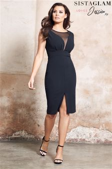 Jessica Wright Mesh Panel Bodycon Dress