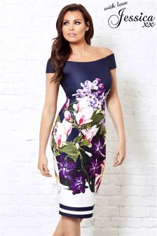 Jessica Wright Floral Print Bodycon Dress