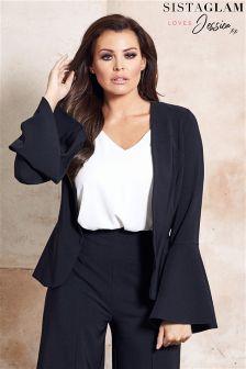 Jessica Wright Flare Sleeve Tailored Blazer