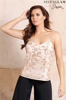 Jessica Wright Embellished Cami Strap Top
