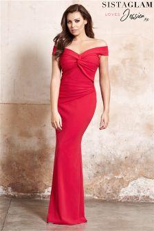 Jessica Wright Knot Front Maxi Dress