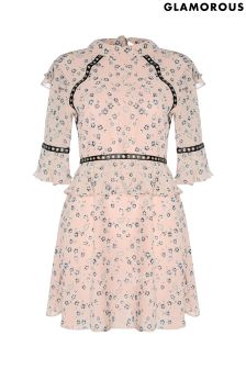Glamorous Floral Skater Dress