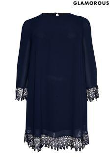 Glamorous Lace Trim Dress