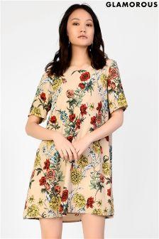 Glamorous Curve Printed Tee Dress