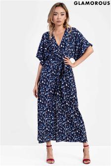 Glamorous Petite Printed Split Front Maxi Dress