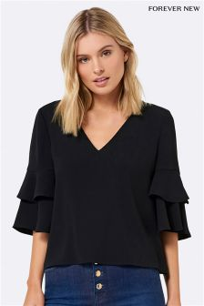 Forever New Double Tiered Sleeve Blouse