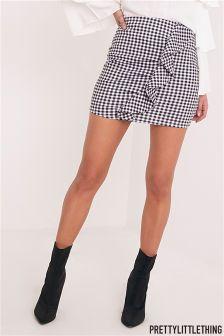 PrettyLittleThing Gingham Ruffle Mini Skirt