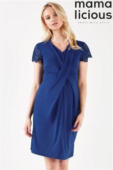 Mamalicious Maternity Gina Tess Short Sleeve Jersey Dress