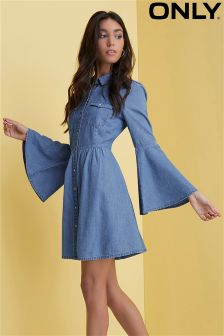Only Bell Sleeve Denim Dress