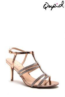Qupid Embellished Strappy Sandal