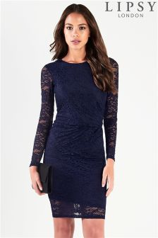 Lipsy All Over Lace Knot Dress