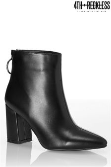 4th & Reckless Flared Heel Ankle Boots