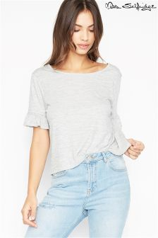 Miss Selfridge Lattice Back T-Shirt