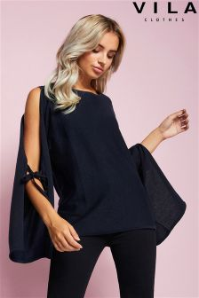 Vila Split Sleeve Jumper