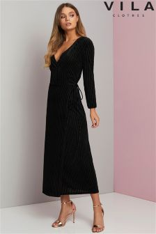 Vila Wrap Midi Dress