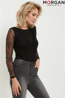 Morgan Lace Sleeve Blouse