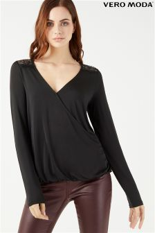Vero Moda Cut Out Wrap Top