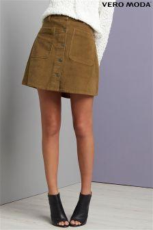 Sztruksowa spódnica Vero Moda Corduroy