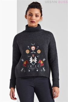 Urban Bliss Folk Embroidered Jumper