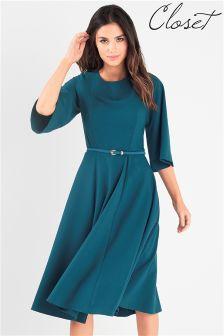Платье с рукавами клеш и вставками Closet