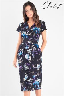 Платье миди с цветочным рисунком Closet