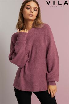 Vila Bat Sleeve Knit Top