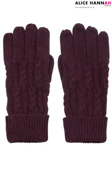 Alice Hannah Ribbed Knit Gloves