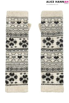 Alice Hannah Lace Trim Fairsle Arm Warmer