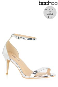 Boohoo Wide Fit Barely There Sandals