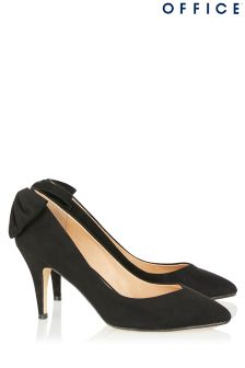 Office Bow Back Mid Court Heels