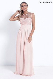 Sistaglam Lace Bridesmaid Maxi Dress