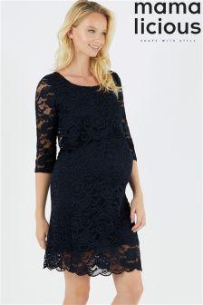 Mamalicious Maternity Nursing Lace Dress