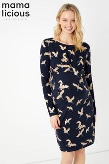 Mamalicious Maternity Ave Long Sleeve Jersey Short Dress
