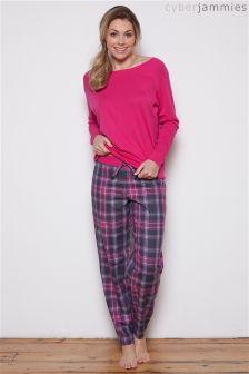 Cyberjammies Check Print Pyjama Set