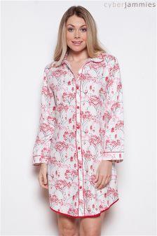 Cyberjammies Erin Floral Print Night Shirt