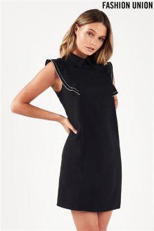 Fashion Union Frill Sleeve Shirt Dress