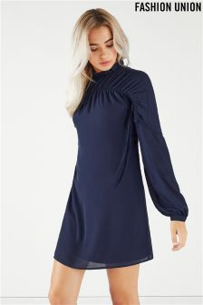 Fashion Union Ruched Shift Dress