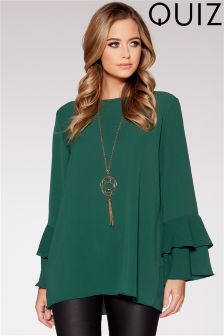 Quiz Double Frill Sleeve Top