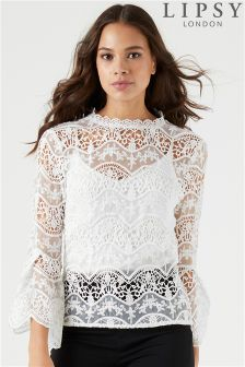 Lipsy Lace Shell Top