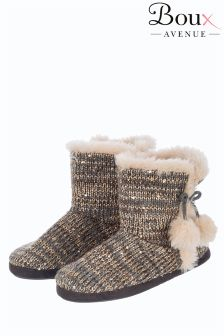 Boux Avenue Sequin Bootie Slippers