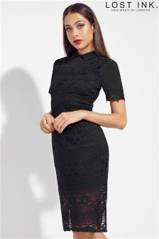 Lost Ink Lace Day Bodycon Dress