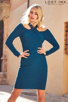 Lost Ink Knitted Bodycon Dress