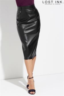 Lost Ink Pencil Skirt