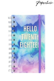 Paperchase Cloud Slogan Slim Wiro Week To View 2018 Diary