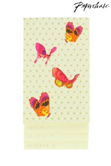 Paperchase Golden Palace Butterfly List Pad
