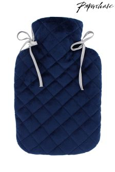 Paperchase Indigo Nights Velvet Hotwater Bottle