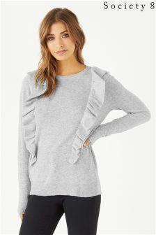 Sweter Society 8 z falbanką