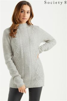 Society 8 High Neck Cable Jumper