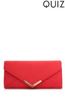 Quiz Plated Envelope Clutch Bag