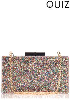 Quiz Glitter Detail Box Bag